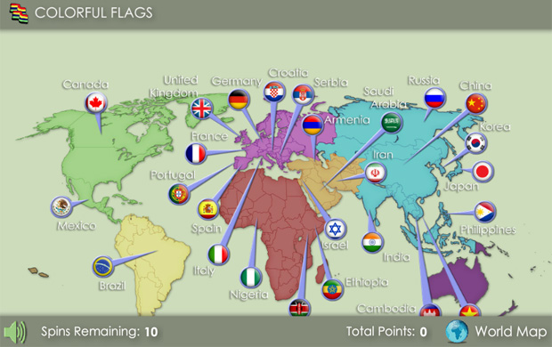 Colorful Flags Game